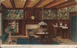 W.P. Nelson Co. Decorative Suggestion for Interior of Dinng Room Postcard