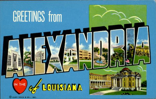 Greetings From Alexandria Louisiana Large Letter