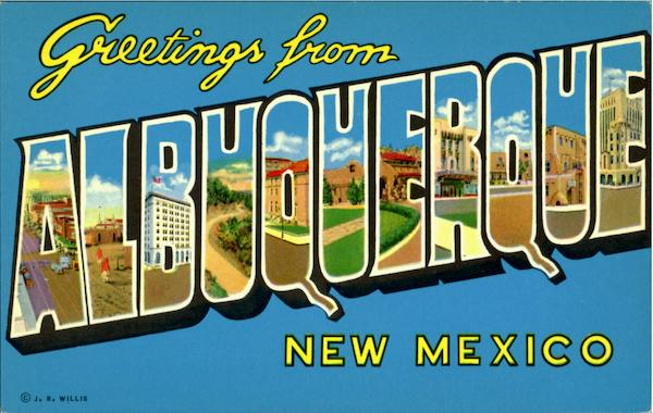 Greetings From Albuquerque New Mexico Large Letter