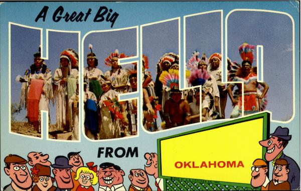 A Great Big Hello From Oklahoma Large Letter