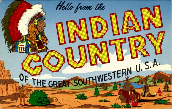 Hello From The Indiana Country Native Americana Large Letter