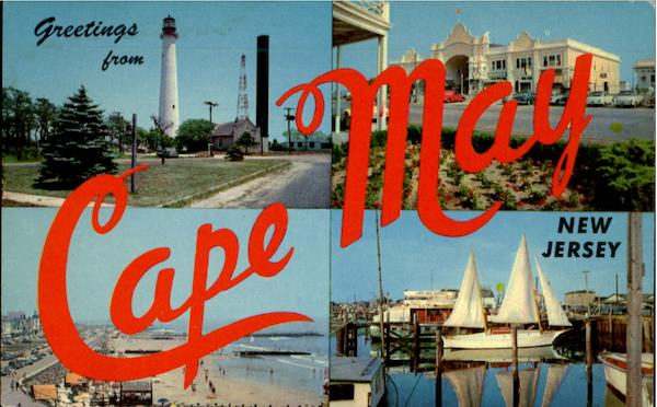 Greetings From Cape May New Jersey Large Letter