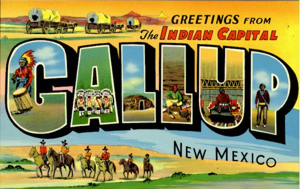 Greetings From The Gallup New Mexico Large Letter