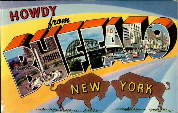 Howdy From Buffalo New York Large Letter