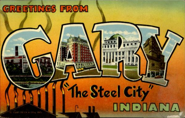 Greetings From Gary Indiana Large Letter