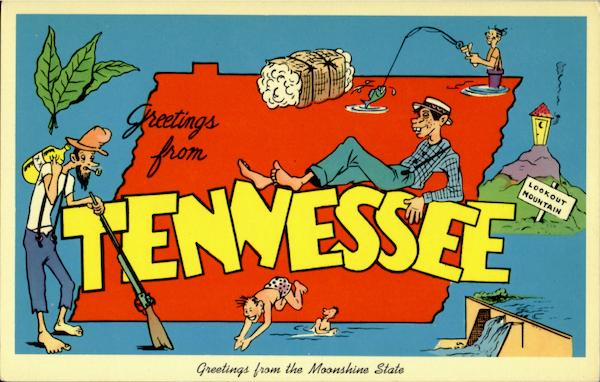 Greetings From Tennessee Large Letter