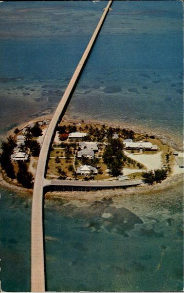 Aerial View Of The Fabulous Seven Mile Bridge Pigeon Key Florida
