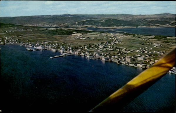 Aerial View Of Bay Roberts Canada Newfoundland and Labrador