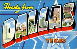 Howdy From Dallas Postcard