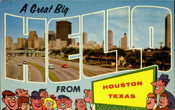A Great Big Hello From Houston Postcard