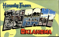 Howdy From Durant Postcard