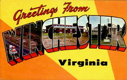 Greetings From Winchester Postcard