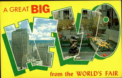 A Great Big Hello From The World's Fair 1964 Postcard