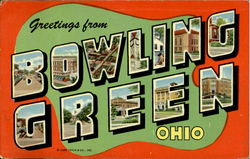 Greeting From Bowling Green Postcard