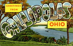 Greetings From Gallipolis Postcard