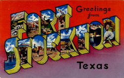 Greetings From Fort Stockton Postcard