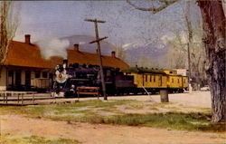 Virginia And Truckee Railroad On Its Last Trip