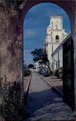 The Patio And Towers Of Mission San Xavier Del Bac