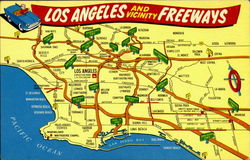 Los Angeles Freeways Postcard
