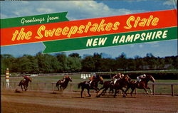 Greetings From The Sweepstakes State Postcard