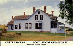 Custer House, Fort Lincoln State Park Postcard