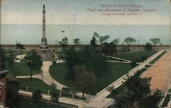 Woodland Park, Tomb and Monument of Stephen Douglas, Cottage Grove Ave., and 35th St. Postcard