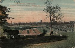 View of Farm and Orchard, Soldiers and Sailors Home Postcard