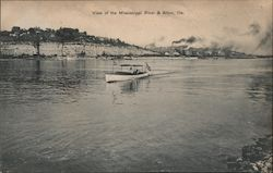 View of the Mississippi River Postcard