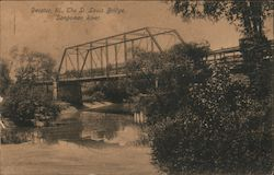 St. Louis Bridge, Sangamon River Postcard