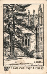 Vassar College Library Postcard