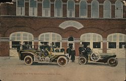 Lansing's Auto Fire Department Postcard