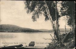 Big Diamond Pond looking east from Boat Landing Postcard