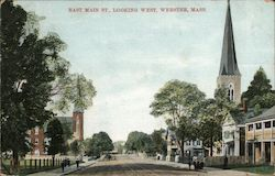 East Main St., Looking West Postcard