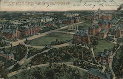 Birds-Eye-View of Missouri State University Postcard
