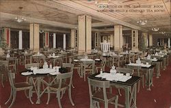 "A Portion of the ""Narcissus"" Room, Marshall Field & Company Tea Rooms Postcard"