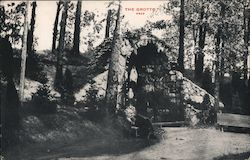The Grotto of Our Lade of Lourdes Utica, New York Postcard