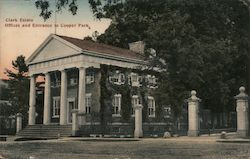 Clark Estate, Offices and Entrance to Cooper Park Postcard