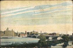 Panorma of River Front Postcard