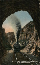Canyon Scene from Railroad Tunnel in the Northwest