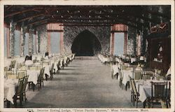 "Interior dining lodge, ""Union Pacific System"" Postcard"