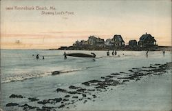 Kennebunk Beach showing Lord's Point Postcard