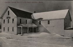 Lewiston Grange No. 2. P. of H. South Postcard