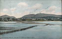 The Bar and Town from Rodicks Island Postcard