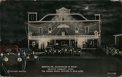 Bangor Auditorium at Night Postcard