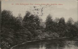 Little Androscoggin River showing Barker Mill Postcard