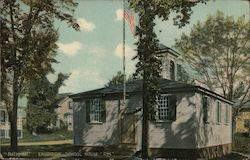 Erudition School House, 1794 Postcard