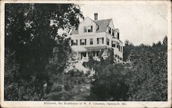 Hillcrest, the Residence of W.F. Cousens Postcard