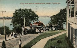 View from Peak's Island House Postcard