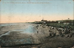 Beach view at Old Orchard Beach Postcard