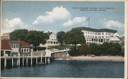 Peak's Island House and Landing Postcard